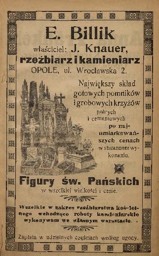 Billik u. Knauer, reklama 1907