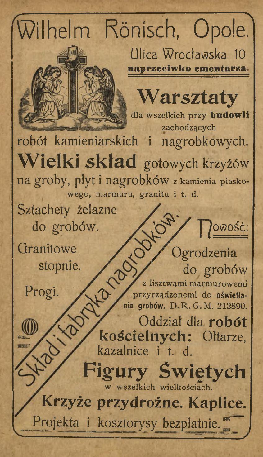 Roenisch, reklama 1905