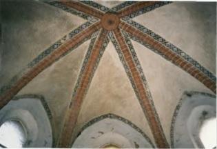 Sklepienie prezbiterium w 2004 roku, fot. B.Adamska